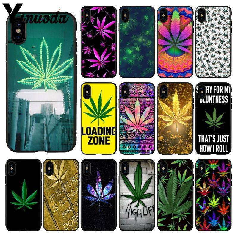 Yinuoda Abstractionism Art high weed Soft Silicone TPU Phone Cover for iPhone 5 5Sx 6 7 7plus 8 8Plus X XS MAX XR