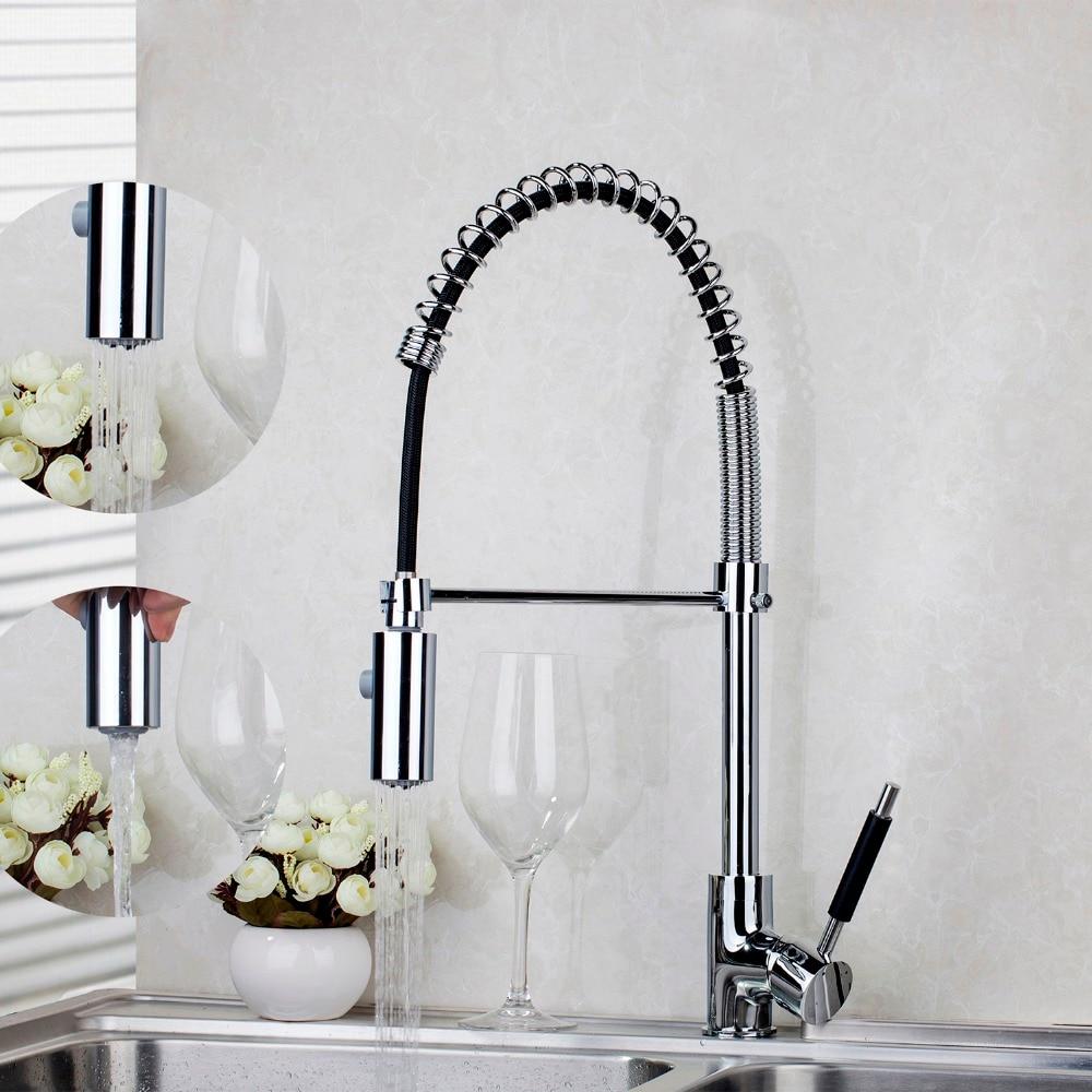 Swivel Sprayer Kitchen Mixer Sink Tap Chrome Faucet JN8538