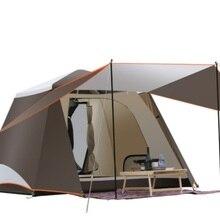 Быстро открыть 2 двери 3-4 человек полностью автоматическая палатка Кемпинг Семейная Палатка парк пляж Рыбалка автомобиль самовождение Открытый кемпинг палатка