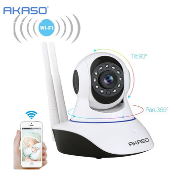 AKASO wireless HD IP camera 720p wi-fi cctv home security camera video surveillance wifi baby monitor two way audio hd 720p wireless ip camera wifi onvif video surveillance security cctv network wi fi camera infrared ir