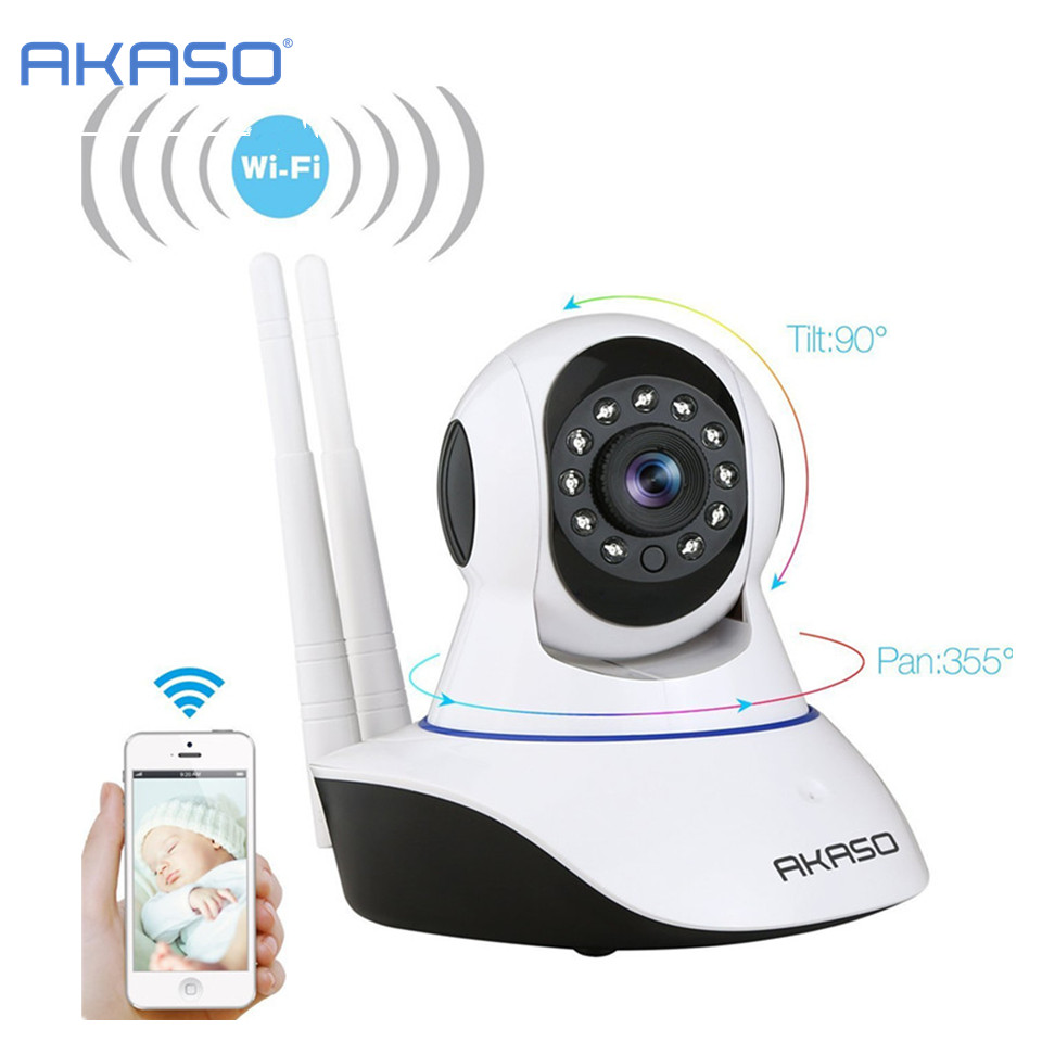 akaso wireless ip camera 720p wi fi cctv home security camera surveillance onvif baby monitor. Black Bedroom Furniture Sets. Home Design Ideas