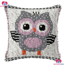 "Latch Hook Kits Embroidery Pillow""owl""do it yourself""home decor Printing Canvas Foamiran for crafts cross-stitch pillow crafts(China)"