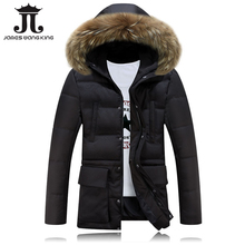 Hot sale winter jacket Men Solid Long Wadded warm Casual coat Slim Fur Hooded Parka Men Outwear jacket and coats 2017 new