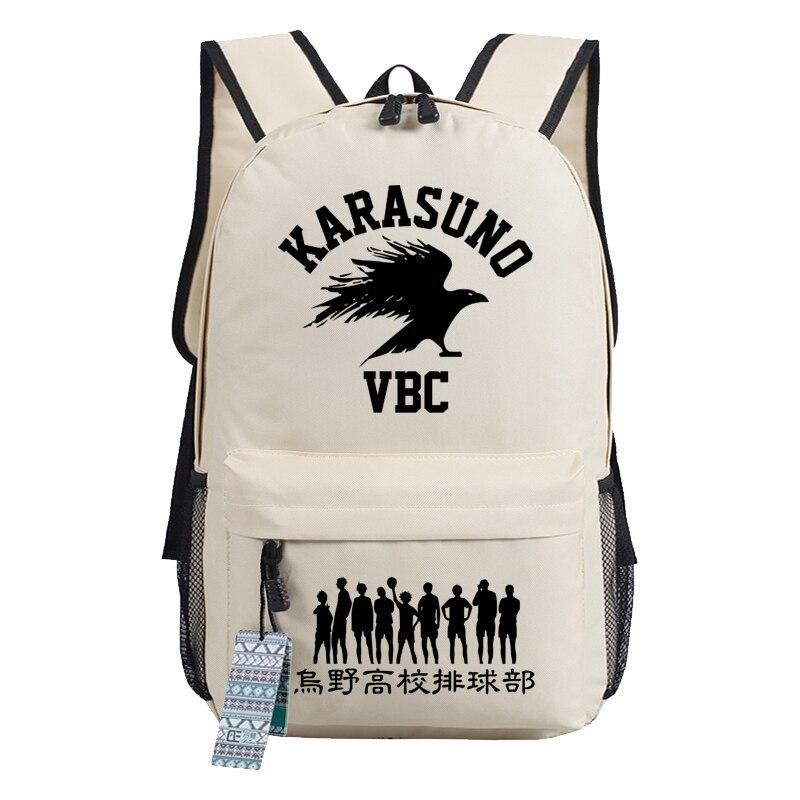 Haikyuu Karasuno VBC Women Backpack Canvas Travel Bagpack School Backpacks For Teenage Girls Anime Bookbag Rugzak Shoulder Bags
