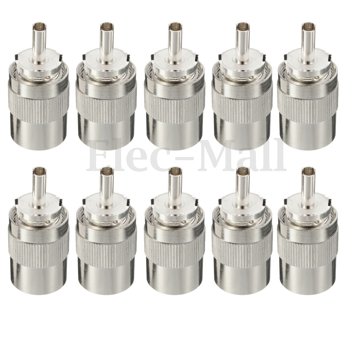 10pcs Connector UHF male PL259 plug solder RG8 RG213 LMR400 7D-FB cable silver разъемы и переходники dynavox plug rg 01 gold