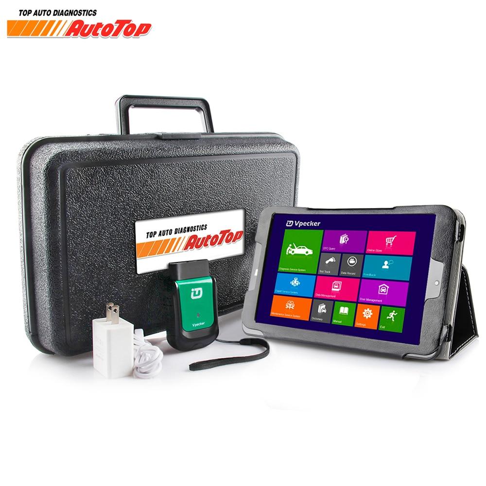 2018 Vpecker Easydiag OBD2 Wifi / Bluetooth V10.6 OBD 2 Automotive Scanner +8 inch Windows 10 Vpecker Tablet ODB 2 Autoscanner