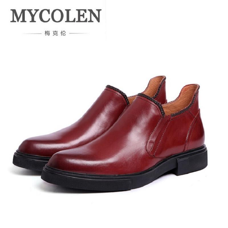 MYCOLEN Brand Vintage Retro Handmade Street Style Mens Ankle Boots Shoes Autumn Winter Genuine Leather Business Chelsea Boots brand vintage retro 100