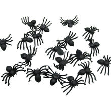 20 Pcs Berguna Plastik Hitam Spider Halloween Dekorasi Festival Supplies Prank Lucu Mainan Dekorasi Realistis Prop Hot Sale(China)