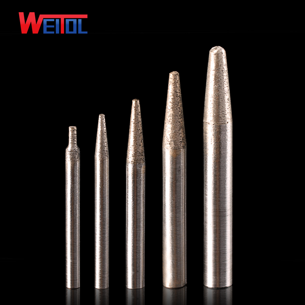 Weitol free shipping 6/8/10/12mm shank stone engraving bits Sintered stone carving tools diamond router bits CNC milling cutter pcd cnc carving tools diamond router bits stone marble granite tombstone cutting engraving bits shk 6mm angle 70 deg tip 0 4mm