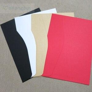 Image 2 - 50pcs 190x135mm Color Envelopes Invitation Gift Envelope 120gsm Plain/Pearl Paper Envelope