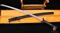 41 Handmade Japanese Samurai Sword Butterfly Tsuba 1060# Carbon Katana Sword+ a free stand