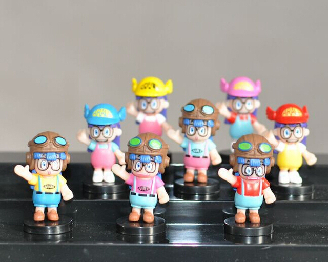 8pcs/set Dr.Slump Arale Anime Cartoon Action Figures PVC brinquedos Collection Figures toys for christmas gift