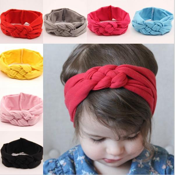new Latest trends top knot turban headband cute children