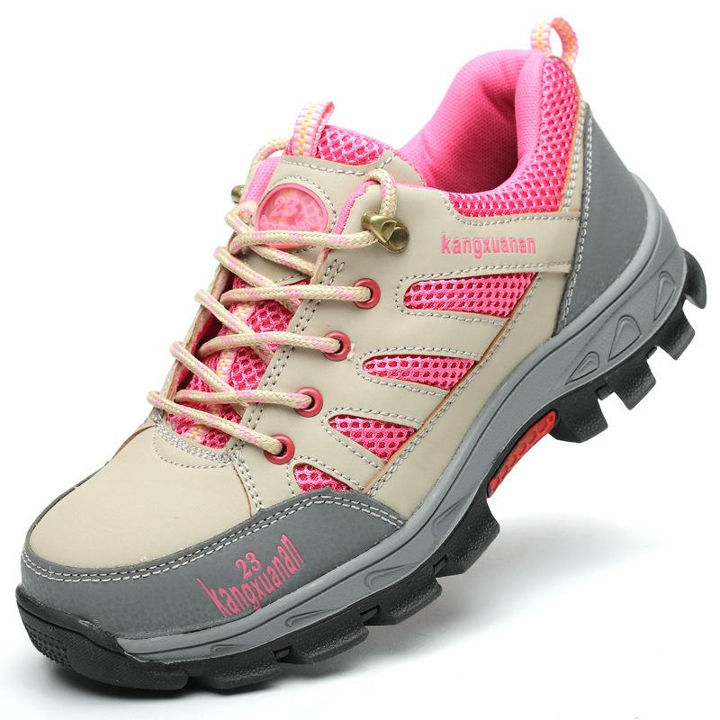 Safety Shoes And Hats Steel Toe Safety Shoes Ladies Work Shoes Women Anti-smashing Waterproof Stab-resistant Wear DXZ007