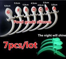 7pcs hot sale 100 pure soft silicone font b anal b font plug fox tail big