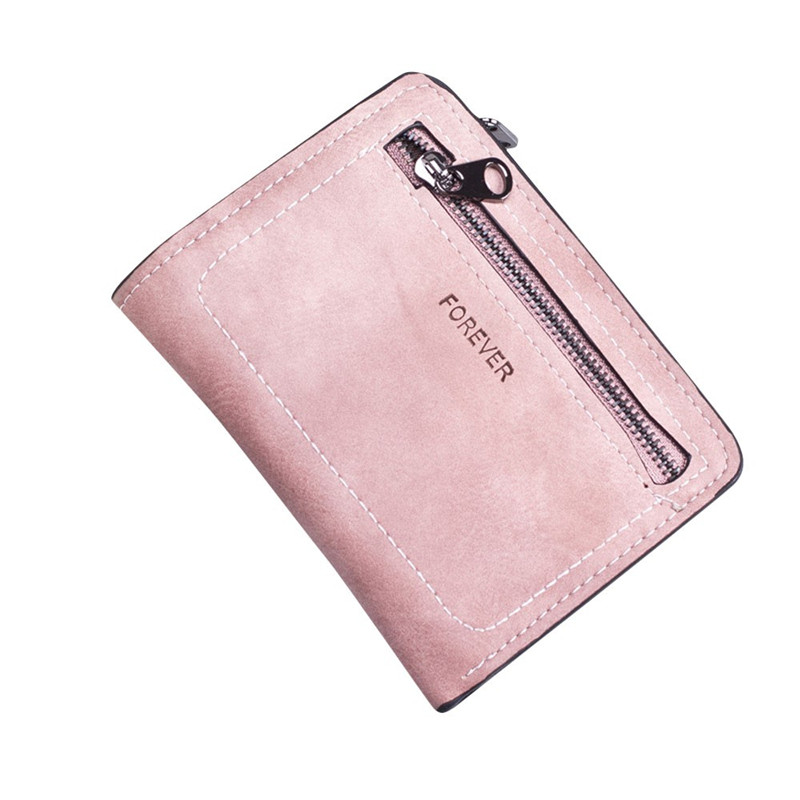 Simple Women Wallet Solid Color Zipper Coin Purse Short Wallet Card Holders Handbag Women's Money Bag Carteira Feminina #3 mooistar2 3001 women solid color coin purse long wallet card holders handbag