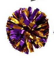 Purple gold Small cheer pom poms 5c64fbbde3eae