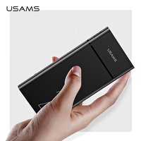 USAMS 20000mAh Fast Charge Power Bank For Xiaomi Mi 20000 mAh Poverbank for iPhone Charger External Battery Charger Powerbank