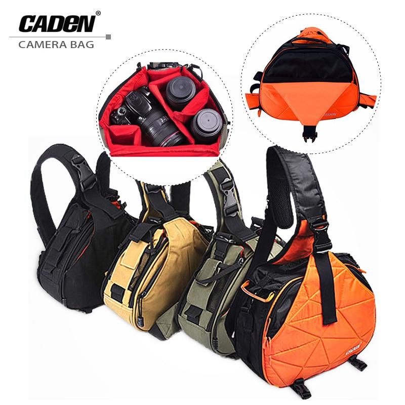 Waterproof Travel Small DSLR Shoulder Camera Bag With Rain Cover Shoulder Bag Triangle Bag