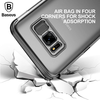 Baseus Armor Case For Samsung Galaxy S8 Cover Transparent TPU Full Protective Shell Cover Case For