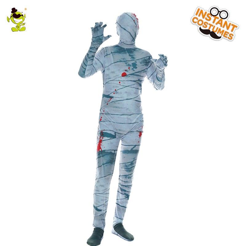9e77f7353a4740 R$ 141.56 |Homens Do Partido do Dia Das Bruxas Fantasma Cosplay Traje de  Luxo Homens Múmia Múmia Trajes Masculinos Traje Bodysuit Zumbi Trajes ...
