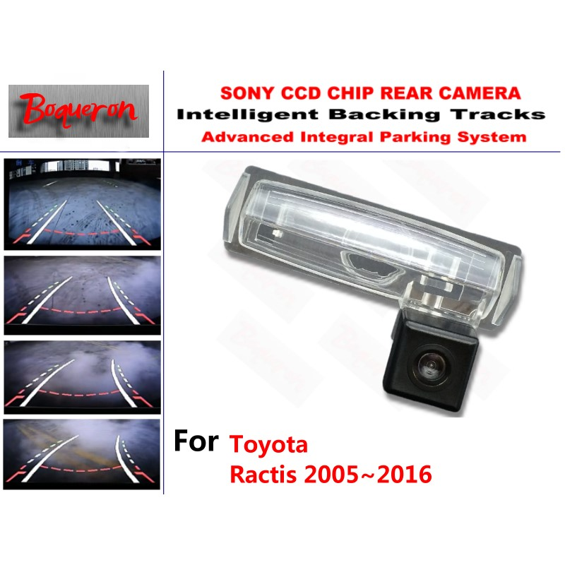 for Toyota Ractis 2005~2016 CCD Car Backup Parking Camera Intelligent Tracks Dynamic Guidance Rear View Camera for mazda 6 mazda6 atenza 2014 2015 ccd car backup parking camera intelligent tracks dynamic guidance rear view camera