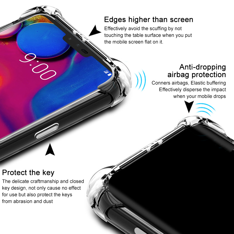 Image 3 - Clear Soft Shockproof Cover Case For LG G6 G7 G8S ThinQ W10 W30 Stylo 3 4 5 K9 K40 K50 Q60 V20 V30 V40 V50 K8 K10 2017 Case-in Phone Bumpers from Cellphones & Telecommunications
