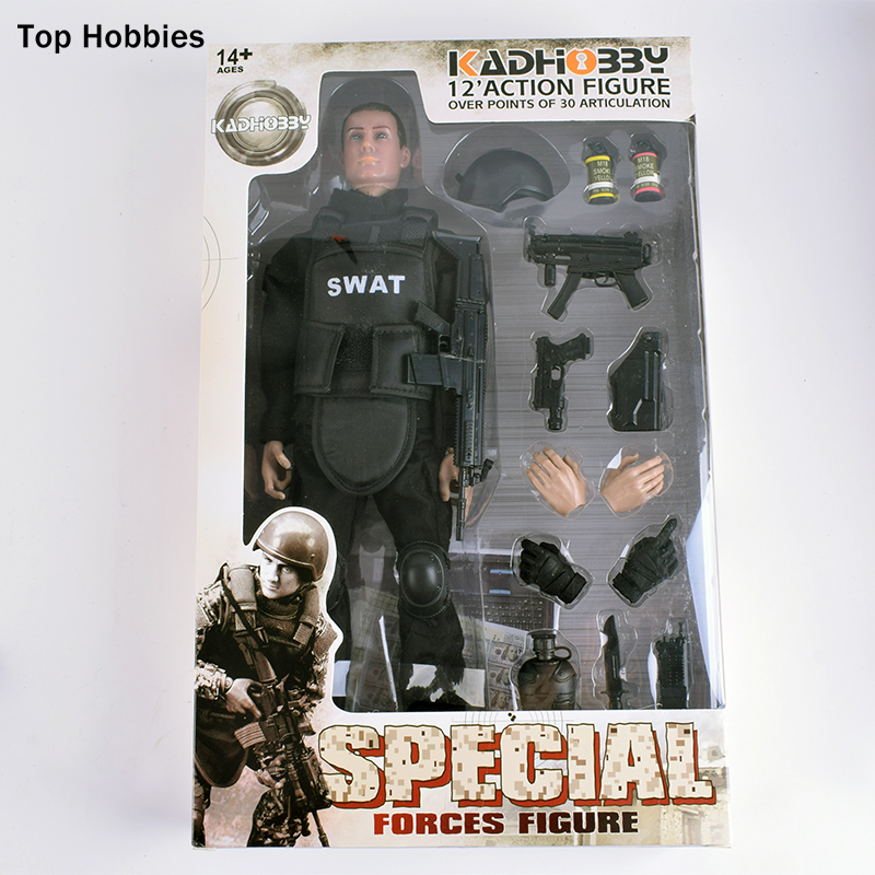 Special Forces Collect 1/6 Scale SWAT Military Uniform Combat Army Game Soldier Set with Retail Box Action Figure Model hot toys 1 6 military scale action figures doll set super flexible 12action figure doll desert sniper soldier plastic model toys
