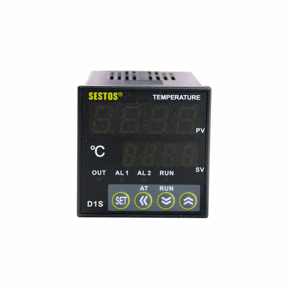 Sestos Digital PID AC 110-240V Temperature Control Controller Current&Relay Output D1S with 25A SSR e5an q1tc 300 temperature controller digital intelligent temperature control meter 100 240v ac tools