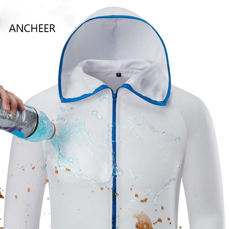 100% Waterproof Anti-Fouling Quick-Drying-Protect Men Skateboarding Hooded Jackets Hydrophobic Ice Silk Man Anti-Dirty Hoodies