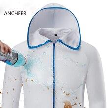 Водостойкие анти-обрастающие быстросохнущие защитные мужские куртки с капюшоном для скейтбординга гидрофобные шелковые мужские не грязные толстовки