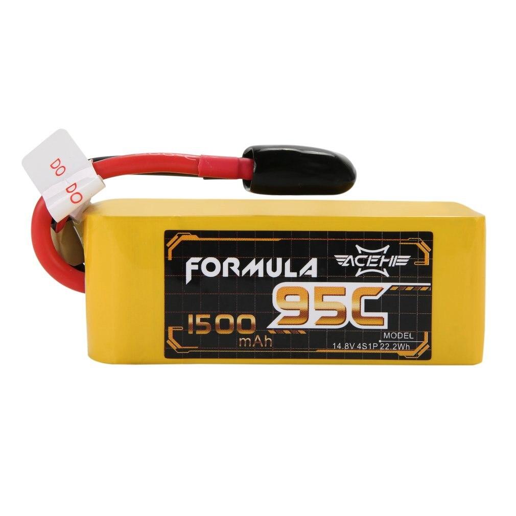 ACEHE 1500 mAh 95C 14,8 V 4S1P 22.2Wh ligero de alta capacidad nominal serie de carreras de Lipo batería con XT60 macho para FPV Racing