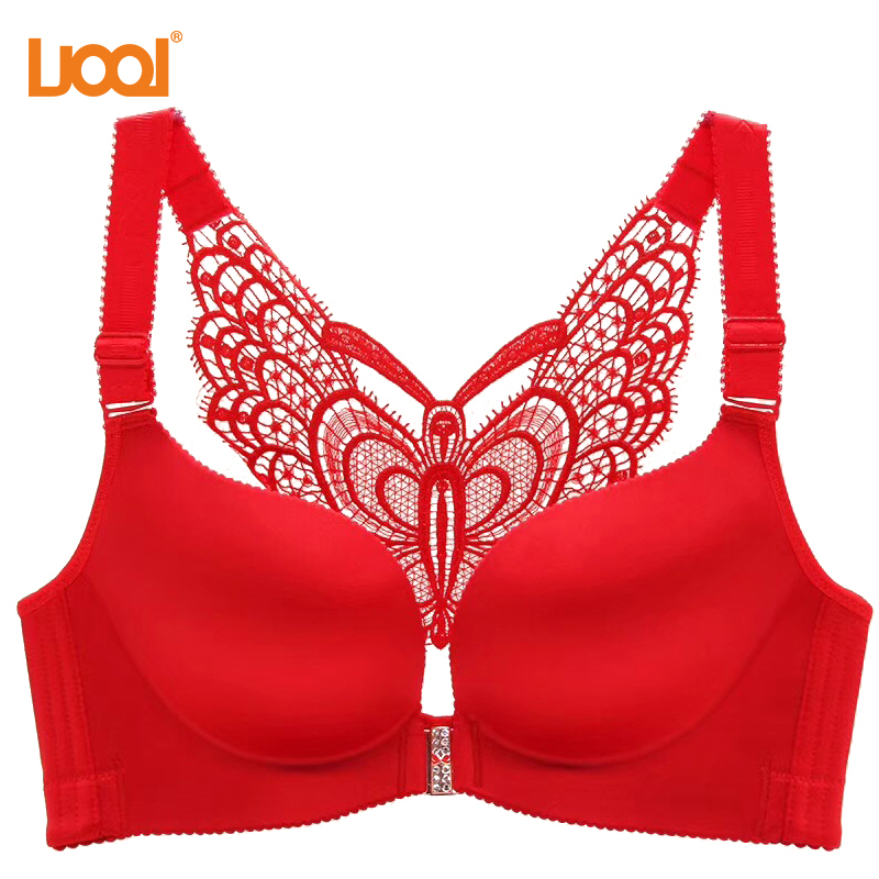 1b27944966a OUBINEW Front Closure Bra Sexy Seamless Butterfly Adjustable Push Up Bra  Femme Plus Size Bras for Women Large ...