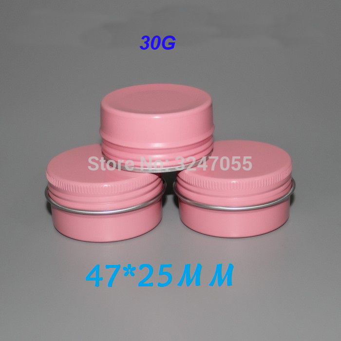 30G 30pcs 50pcs 100pcs Pink Round Aluminum Cream Jar, Cosmetic DIY Mask Refillable Pot, Aluminum Metal Tins Cosmetic Containers 150g aluminum jar refillable cosmetic cream bottle empty screw cap containers black pink gold white silver lotion tins
