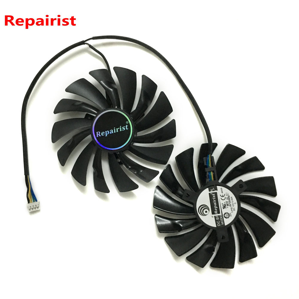 2pcs/lot GPU RX580 RX480 ARMOR VGA cooler Video Card cooling fan For Radeon RX 480 MSI RX 580 ARMOR Graphics Card Cooling system free shipping 90mm fan 4 heatpipe vga cooler nvidia ati graphics card cooler cooling vga fan coolerboss
