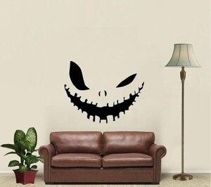 Image 1 - Kötü gülümseme cadılar bayramı dekorasyon vinil duvar çıkartması çıkartması aile oturma odası yatak odası pencere sanat dekorasyon sticker duvar WSJ11