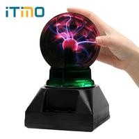 ITimo Electrostatic Induction Creative Sphere Light Plasma Light Magic Crystal Plasma Ball Novelty Lighting