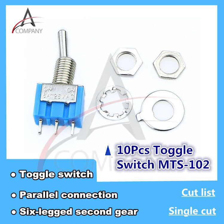 Durable 2-Way 3-Pole On//On Mini Toggle Switch for circuit wiring Harness Parts