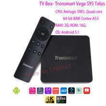 2016 Más Reciente Tronsmart Vega S95 Telos H8 Inteligente Android TV Box Android 5.1 2 GB/16 GB 2.4 GHz/5 GHz Dual WiFi 4 K 3D HD Media Player