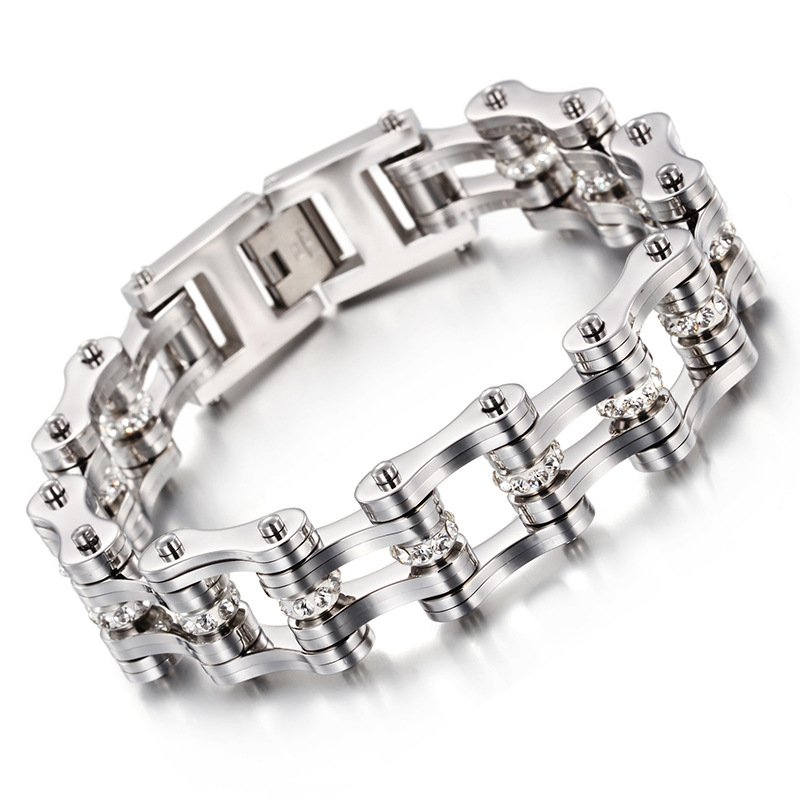 Stainless Steel Men S Bracelet Domineering Motorcycle Chain Bracelet Titanium Steel Bracelet