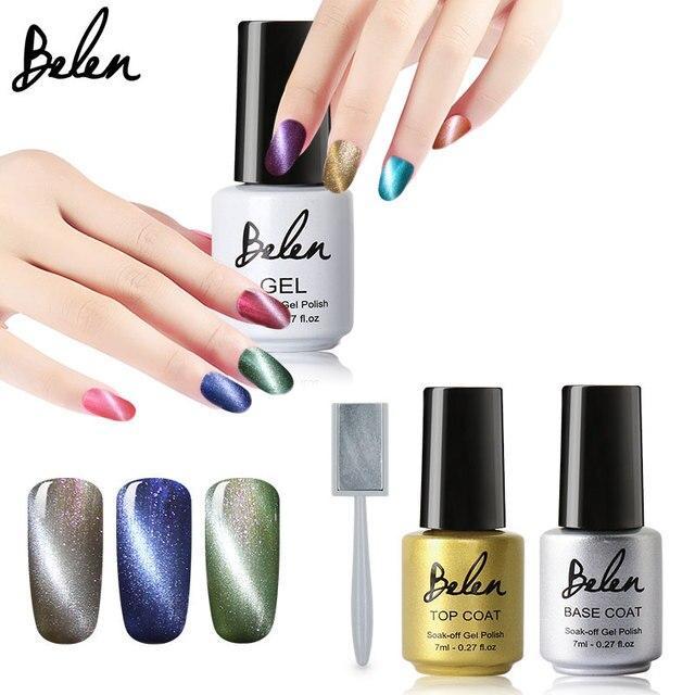 Belen 7 ML Beauty Nail Art Nail Gel Magnetyczny Oczy Kota Żel Polski LED UV Soak off Gel Lacquer