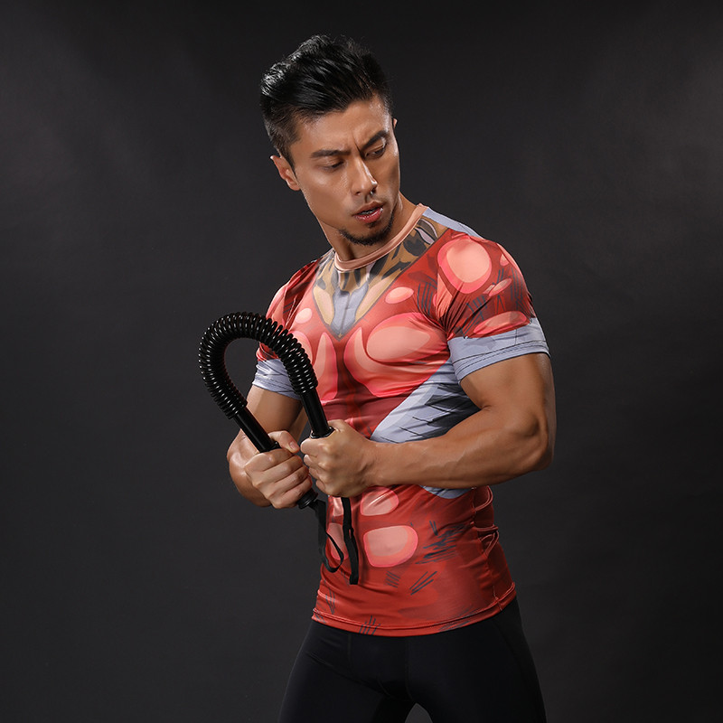 2017 NEW 3D Printed T-shirts Men Compression Shirts Short Sleeve Funny Cosplay costume Fitness Body Building Male Crossfit Tops