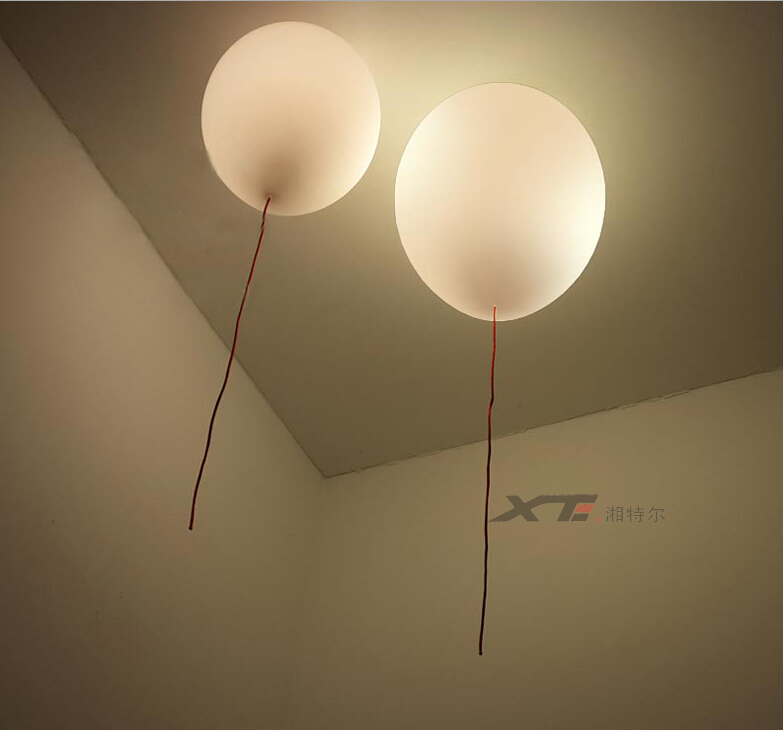 Modern kids bedroom balloon celing lights creative glass for Kids ceiling lights for bedroom