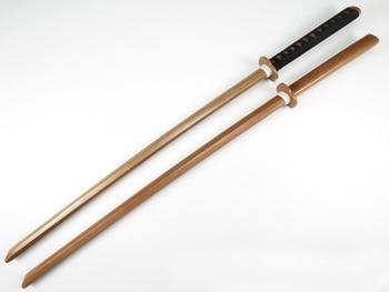 Брэндон мечи Кендо практика дерево Катана Laido обучение использование меч незаточенный Cospaly деревянный меч