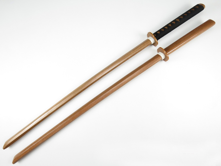 Brandon Swords Kendo Practice Wood Katana Laido Training Usage Sword Unsharpened Cospaly Wood Sword
