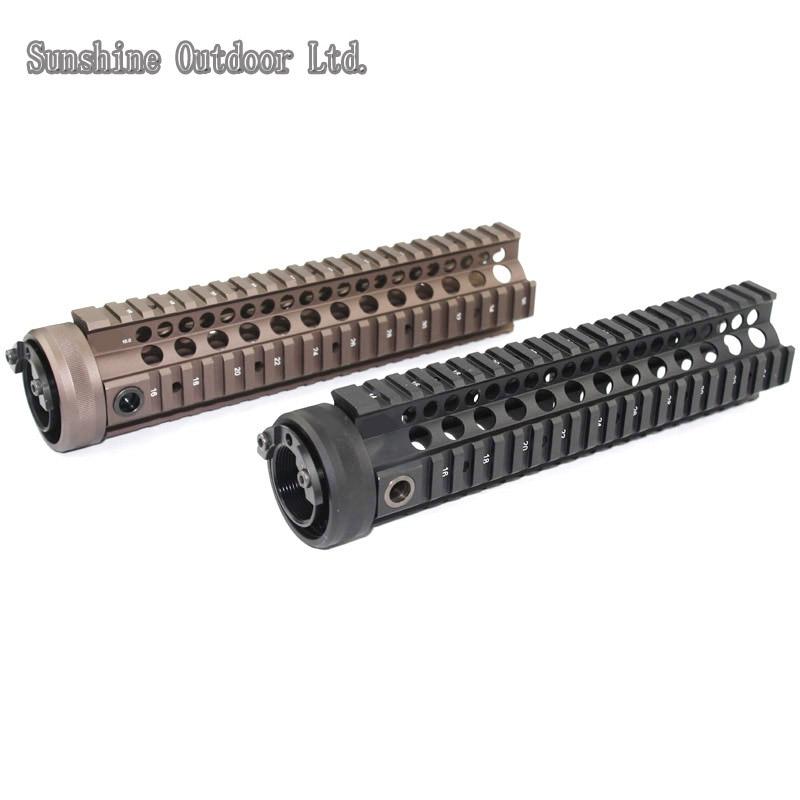Picatinny rail 10.0 inch Handguard Rail System BK/CB for AEG M4 / M16 hunting picatinny rail 4 25 inch handguard rail cqb tactical rail systems for aeg m4 m16