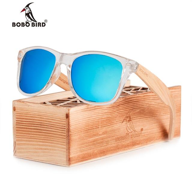 BOBO OISEAU Enduit lunettes de Soleil pour Hommes et Femmes Polarisées  Bambou Titulaire Lunettes de Soleil e9d41a3887e1
