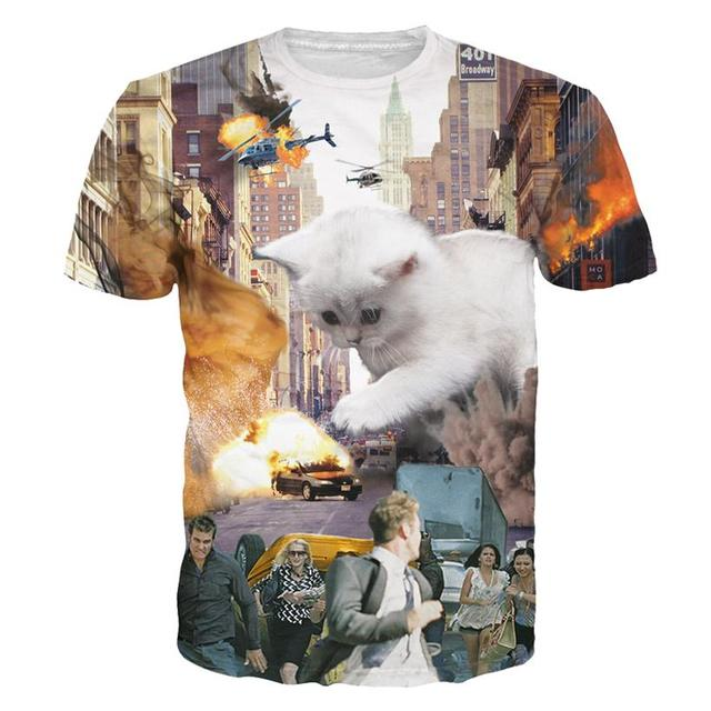 Collection of 3D Cats Print T-shirts