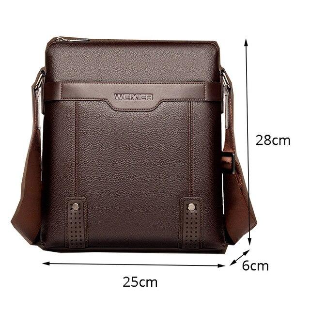 Fashion Shoulder Bag Men's Messenger Bags PU Leather Briefcase Famous Brand Men Crossbody Bag Male High Quality Shoulder Bag 2