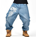 Fashion Trend Man Hiphop Skateboarders baggy jeans Autumn Winter Loose Fertilizer increased Plus Size hip hop Denim Pants #1845
